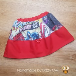 Red comic book skirt
