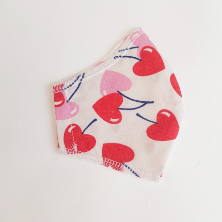Washable, reusable fabric face coverings