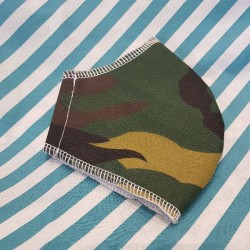 Basic camouflage fabric face covering