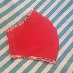 Basic red fabric face covering