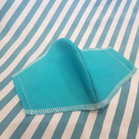 Basic light blue fabric face covering