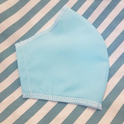 Basic light turquoise fabric face covering