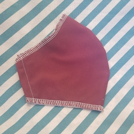 Basic dark red fabric face covering