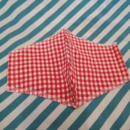 Basic Gingham fabric face covering