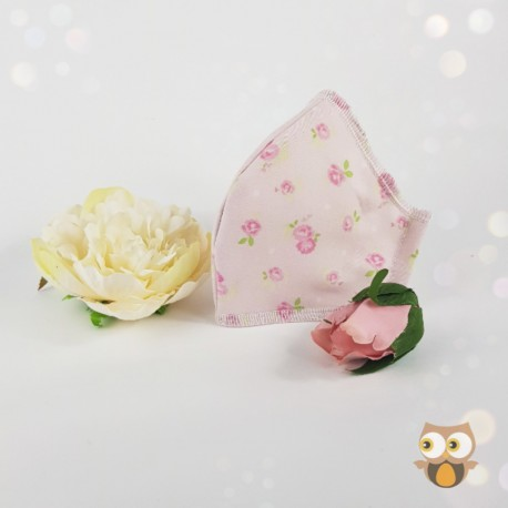 Floral multi colour fabric face covering
