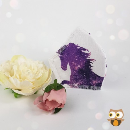Unicorn fabric face covering