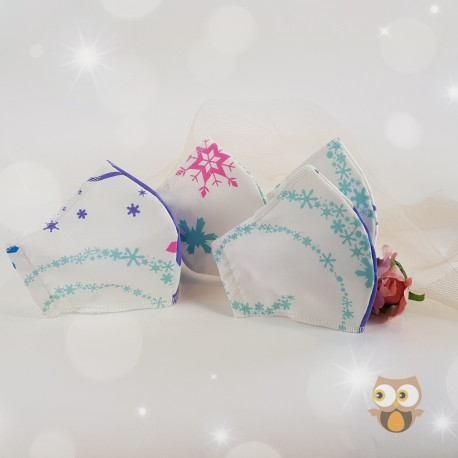 Snowflake fabric face covering