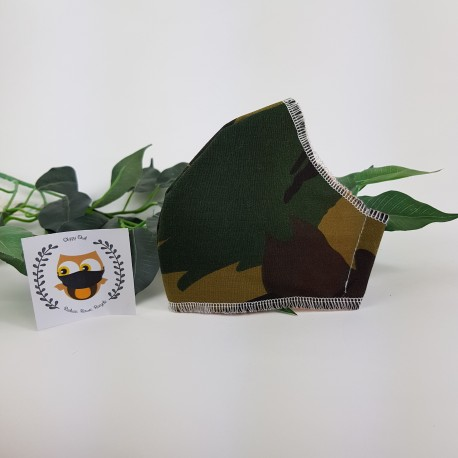 camouflage fabric face covering